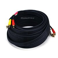 50 Ft. 3-RCA to 3-RCA Composite A/V Cable, Gold Plated by Monoprice