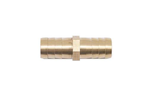 Autobahn88 Straight Brass Copper Vacuum Hose Joiner Barbed Coupler Connector, OD=12mm (1/2