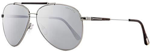 - Tom Ford Women's TF378 Sunglasses, Shiny Light Ruthenium