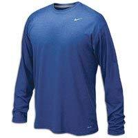 - Nike Mens Legend Poly Long Sleeve Dri-Fit Training Shirt Game Royal Blue/Matte Silver 384408-493 Size Medium