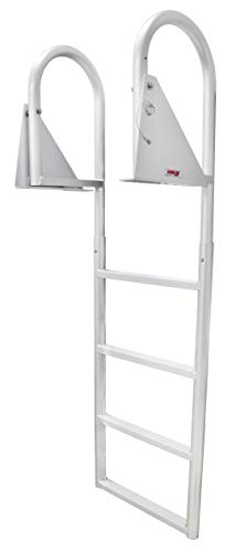 Extreme Max 3005.3473 Flip-Up Dock Ladder, 4 Step