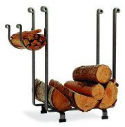Enclume Rectangular Log Rack, Hammered Steel