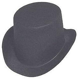 ab25340ce0f Black Flocked Felt Top Hats - Size  4-7 8