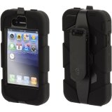 Griffin Black/Black Survivor All-Terrain Heavy Duty Case for iPhone 3G/3GS - Extreme-duty case (Best Iphone 3gs Case)
