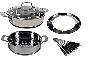 NuWave Ultimate Cookware Steamer and Fondue Set PIC by NuWave