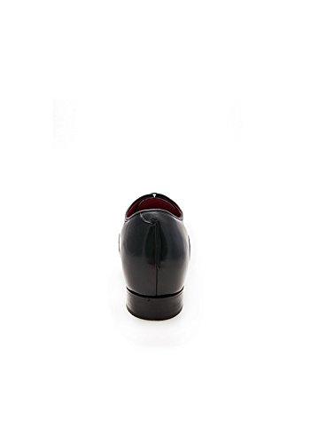 Zerimar Scarpe da Uomo con Aumentano Interni Aumenta +7 cm Genuina Scarpe di Pelle Colore Nero Taglia 41