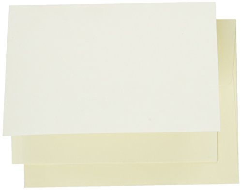 Dinations Cardstock (Darice, 25 Sets, A2 Size Core'dinations Cards and Envelopes, Ivory)