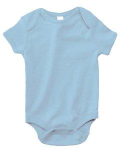 Bella Canvas Infant Short-Sleeve Baby Rib One-Piece - BABY BLUE - 18-24MOS