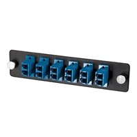 C2G 31116 Q-Series Fiber Distribution System 12-STRAND, LC DUPLEX, PB INSERT, MM/SM, BLUE LC - Patch panel adapter - blue