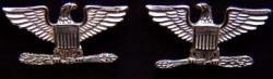 War Eagle Colonel Rank Sterling Oxidized; (Oxidized Eagle)
