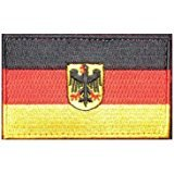 Oyster-Patch Germany Flag (Eagle) Tactical Patch Hook & Loop (Germany (Eagle))