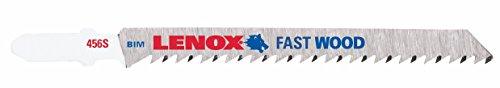 Lenox Tools 20781B456S T-Shank Bi-Metal Fast Cut Jig Saw Blade, 4-Inch x 5/16-Inch x 6 TPI, 25-Pack