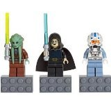 LEGO Star Wars Minifigure Magnet Set 852947 Kit Fisto, Bariss Offee and Captain Jag (Star Wars Fisto Kit Clone Wars)