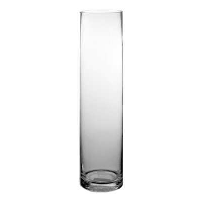 CYS EXCEL Hand Blown-Glass Cylinder Vase Flower Vase, Floating Candle Holder Wedding Decorative Centerpiece, Thickness 1/4th Wide:4