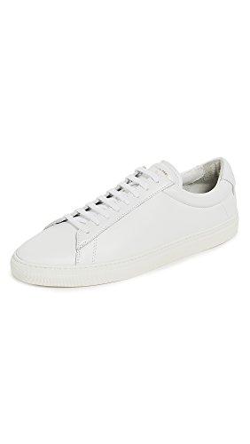 Zespa Heren Zsp4 Lederen Sneakers Wit