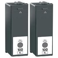 2 Packs Lexmark 100XL lex #100 Lexmark