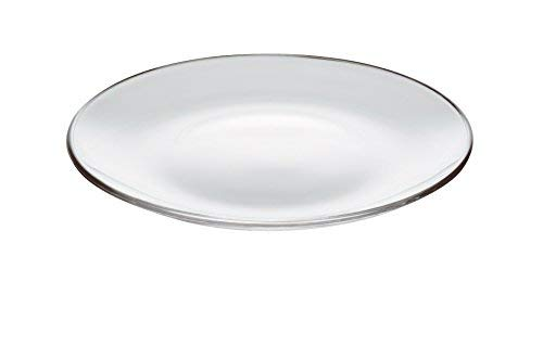 Barski - European - Glass - Set of 6 - Dinner - Round Plates - Each plate is 11'' Diameter - Made in Europe