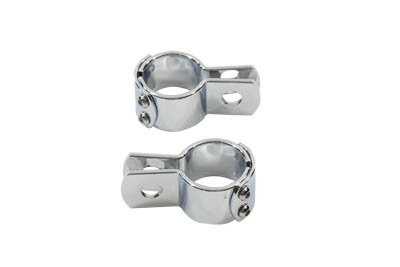 V-Twin 27-0066 Chrome Footpeg Mount Clamp Set