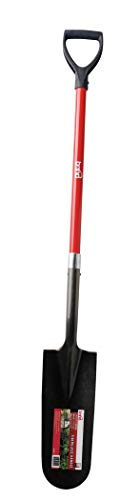 Bond Manufacturing LH025 D-Handle Fiberglass Trenching Shovel, Red