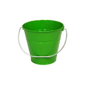 6 pack Metal Bucket, Green Metal Bucket 5