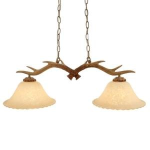 2-Light Natural Antler Island Light Natural Antler (Home Depot Table)