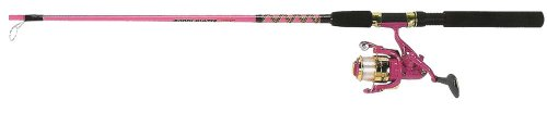 Master Roddy Hunter 2 – Pc. Spinning Combo 5'6″ Pink, Outdoor Stuffs