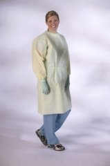 Medline NONLV200XL AAMI Level 2 Isolation Gowns, Latex Free, Extra Large, Yellow (Pack of 100)