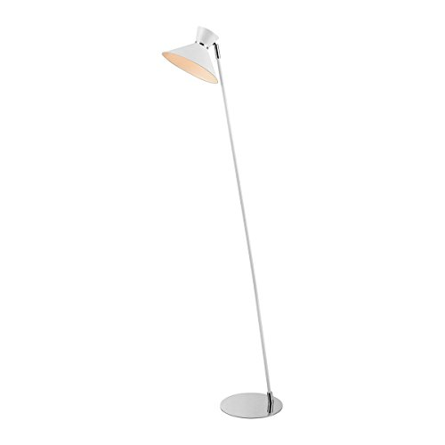 - Diamond Lighting D3789 Floor lamp, White, Chrome