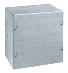 Wiegmann SC181806 SC-Series NEMA 1 Screw Cover Wallmount Pull Box with Knockouts, Painted Steel, 18'' x 18'' x 6''