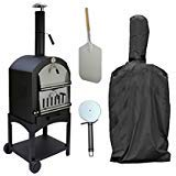 Elevavie Outdoor Pizza Oven Rain Cover Charcoal Fired Bread Oven Smoker BBQ Cover 58 x 45 x - Oven Smoker Outdoor Pizza