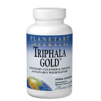 Triphala Gold, 1000 mg, 120 Tabs by Planetary Herbals (Pack of 3) by Planetary Herbals
