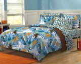 Extreme Sports Ultra Soft Microfiber Boys Comforter Bed in a a Bag Comforter and Sheet Set Twin or Twin XL , Blue Multi by X-14