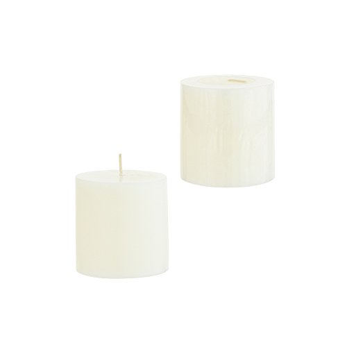 1 X Hanna's 3x3 Pillar Candle (Ivory Unscented) - 3x3-Unscented ()