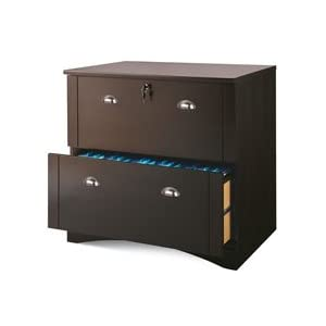 Realspace Dawson 2-Drawer Lateral File Cabinet, Cinnamon Cherry