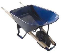 Wheelbarrow, Steel, 6 Cu. Ft, Pneumatic