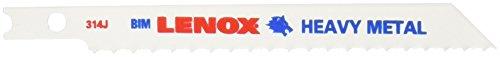 Lenox Tools 20321BT314J U-Shank Bi-Metal Heavy Metal Jig Saw Blade, 3-5/8-Inch x 3/8-Inch x 14 TPI, 2-Pack