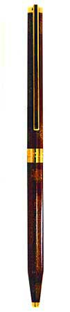 st-dupont-classique-red-with-gold-dust-gt-ballpoint-pen-045293
