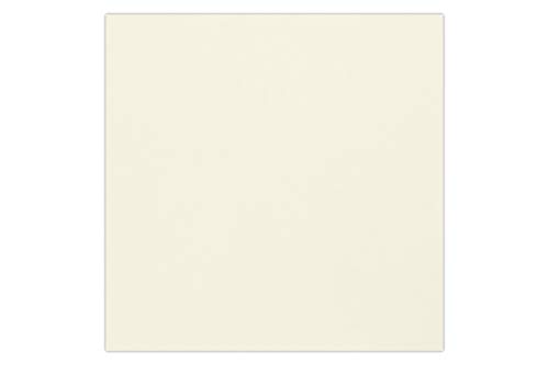 Correspondence Casual Cards (6 3/4 x 6 3/4 Square Flat Card - Natural (50 Qty.) | Perfect for Personal Stationery, Cards, Gifts, Business Correspondence, Invitation Inserts, and more! | 634SQFLT-N-50)