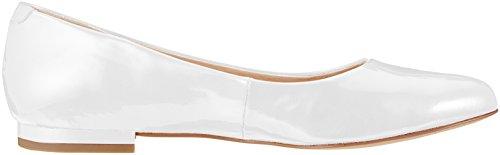 white Caprice Ballerines Patent 123 Blanc Femme 22107 qwRCvwB8