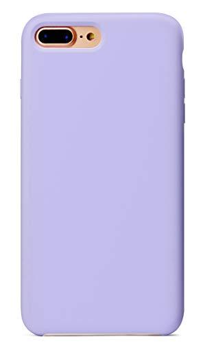 MUNDULEA Compatible iPhone 7 Plus/iPhone 8 Plus Case,Liquid Silicone Rubber Soft Microfiber Protective Cover Compatible iPhone 7 Plus/iPhone 8 Plus (Light Purple)