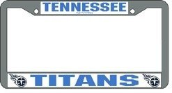 Tennessee Titans Chrome License Plate Frame (Plate Tennessee License Chrome Titans)