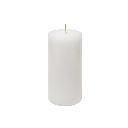 (Mega Candles Unscented White Round Pillar Candle   Hand Poured Premium Wax Candles 3