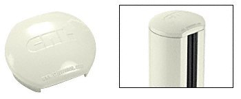 Oyster White Aluminum Windscreen System Round Post Cap for 180 Degree Center or End Posts