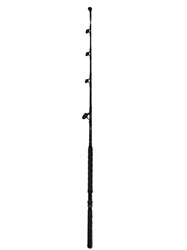 Saltwater Fishing Rod Custom Blue Marlin Tournament Edition Wind on Leader Guides 100 to 120 Pound Class Pole Trolling