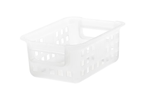 IRIS Small Plastic Storage Basket, 8 Pack