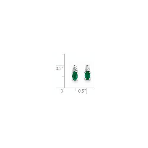 Buy goldia 14k white gold emerald diamond earring