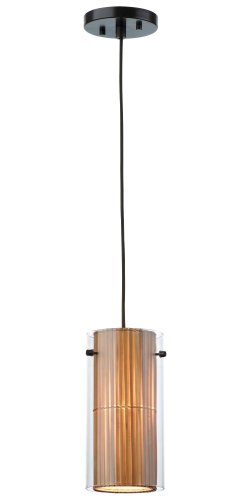 - Forecast Lighting F183270 Hanalei Bay 1 Light Mini-Pendant, Merlot Bronze