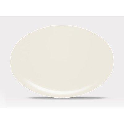 Noritake Colorwave Oval Platter, 16-Inch, White - Noritake Stoneware Platter