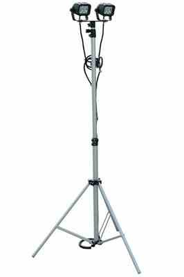Portable LED Telescoping Light Tower Extends 3.5' to 10' - 24 watts - Adjustable - 1440 Lumens - 9-4 by Larson Electronics