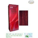 12 X Berina Hair Professional Permanent Hair Color Cream (A 9) Garnet Red Color